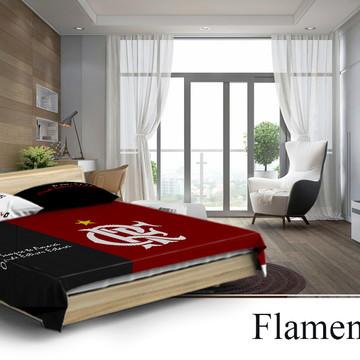 02041fb7f7 Colcha para Cama de Casal Flamengo + 2 Fronhas