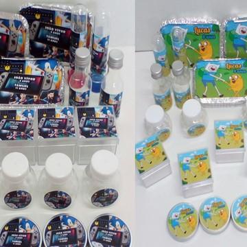 Kit Festa Infantil Tema Jogos com 60 itens