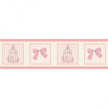 Faixa Decorativa Adesivo Parede Quarto Infantil Menina Rosa
