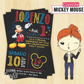 Convite personalizado Mickey Mouse