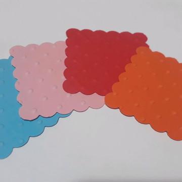 Recortes quadrado escalope com textura