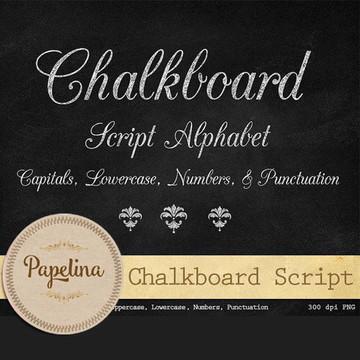 Kit Digital Alfabeto Chalkboard