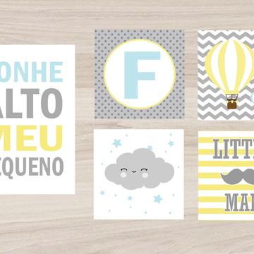Kit Quadro Infantil - Sonhe Alto Little Man