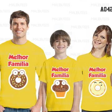 Camisetas Aniversário Família Personalizado kit c/3