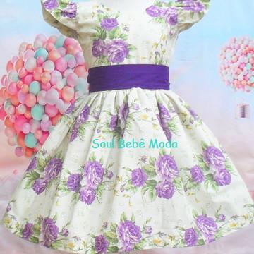 Vestido Criança Festa Floral