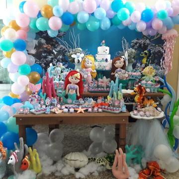 Mesa Decorada - Tema Sereia