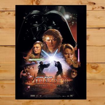 Quadro Decorativo A Vingança dos Sith Star Wars 30x42cm A3