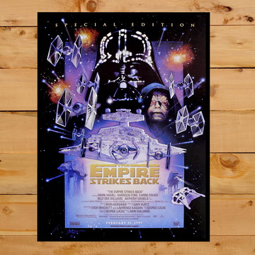 Quadro Decorativo O Império Contra Ataca Star Wars 30x42cm