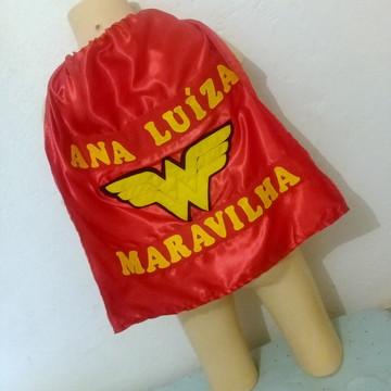 Capa Mulher Maravilha Personalizada