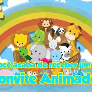 Convite Animado Arca de Noé