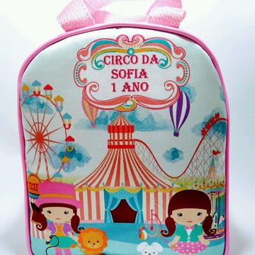 Bolsinha personalizada de mão circo