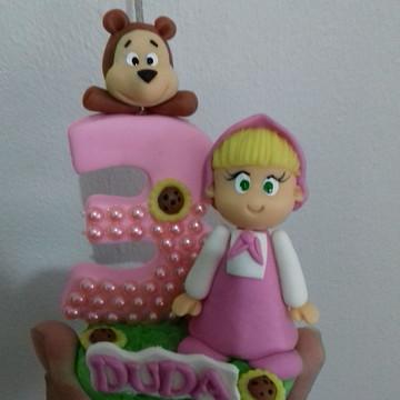 Vela de biscuit marsha e o urso