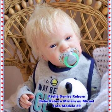 Boneca Bebê Reborn Miriam ou Micael parece bebe de verdade