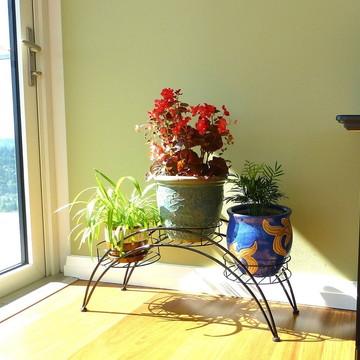 Floreira De Ferro Tubular para 3 Vasos