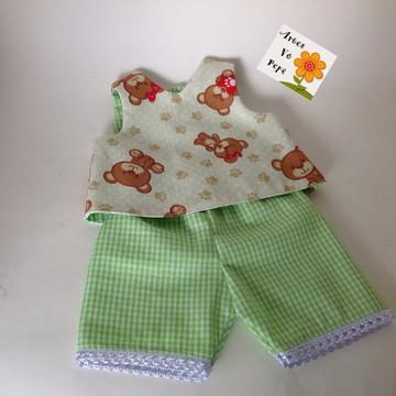 Pijama ou conjunto dupla face baby Alive (boneca)