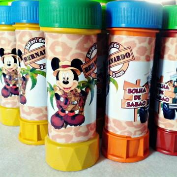 Bolha de Sabão Mickey Safari-Fazemos qualquer tema
