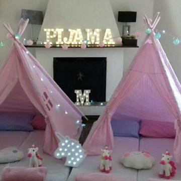 Cabana para festa do pijama Unicórnio