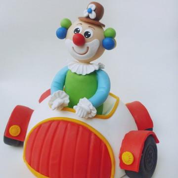 Centro de mesa circo: palhaço no carro
