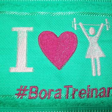 Toalha Bordada de Rosto - Bora Malhar