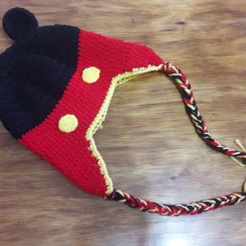 bc15fd9ba5c3b Touca de Croche Mickey Mouse