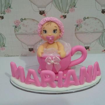 Topo de bolo chá de bebe
