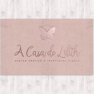 (ARTE) Cartão de Visita Rosé Gold