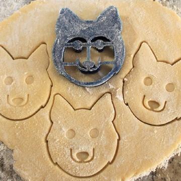 Cortador Biscoito Rosto de Cachorro Husky siberiano