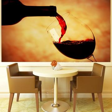 Papel de Parede Para Sala de Jantar Vinhos 0002