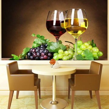 Papel de Parede Para Sala de Jantar Vinhos 0003