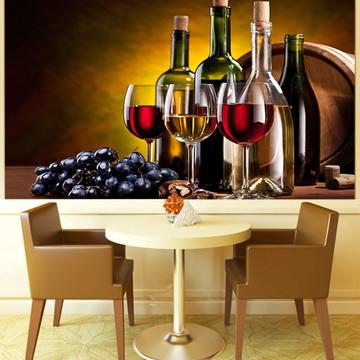 Papel de Parede Para Sala de Jantar Vinhos 0004