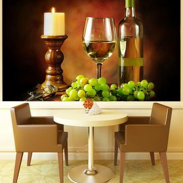 Papel de Parede Para Sala de Jantar Vinhos 0005