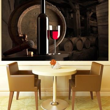 Papel de Parede Para Sala de Jantar Vinhos 0006
