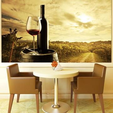 Papel de Parede Para Sala de Jantar Vinhos 0007