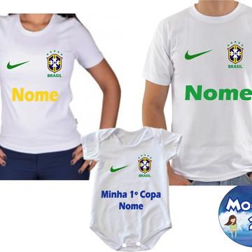 8d9278c471392 Kit Camisetas Personalizada COPA DO MUNDO 2018 COM NOME