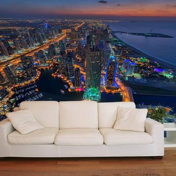 Papel de Parede 3D Cidades 0001 (Dubai) - Adesivo de Parede