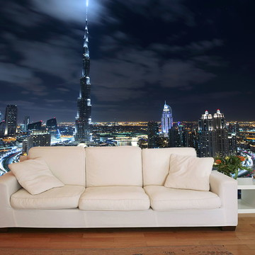 Papel de Parede 3D Cidades 0003 (Dubai) - Adesivo de Parede