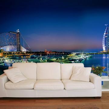 Papel de Parede 3D Cidades 0004 (Dubai) - Adesivo de Parede