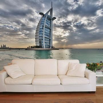 Papel de Parede 3D Cidades 0005 (Dubai) - Adesivo de Parede