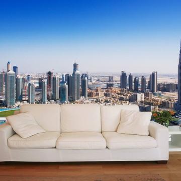 Papel de Parede 3D Cidades 0007 (Dubai) - Adesivo de Parede