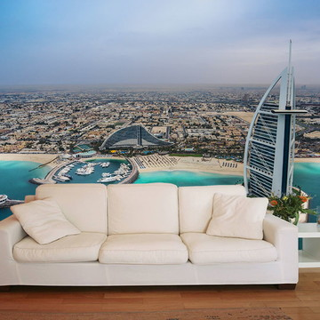 Papel de Parede 3D Cidades 0008 (Dubai) - Adesivo de Parede
