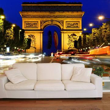 Papel de Parede 3D Cidades 0001 (França) - Adesivo de Parede
