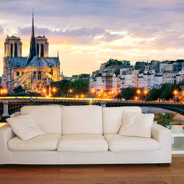 Papel de Parede 3D Cidades 0002 (França) - Adesivo de Parede