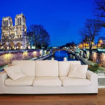 Papel de Parede 3D Cidades 0003 (França) - Adesivo de Parede