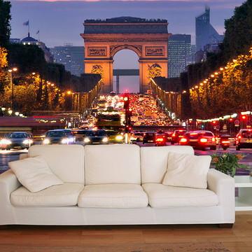 Papel de Parede 3D Cidades 0004 (França) - Adesivo de Parede