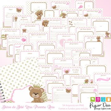Diário do Bebê - Ursa Princesa Rosa