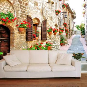 Papel de Parede 3D Cidades 0005 (Italia) Adesivo de parede