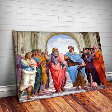 Placa Decorativa Aristóteles 3 Personalidades-30x20cm