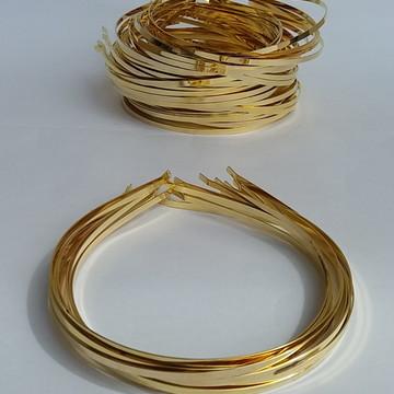Tiara em Metal Dourada 5 mm Pacote com 12 Peças