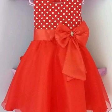 Vestido Infantil Minnie Vermelho