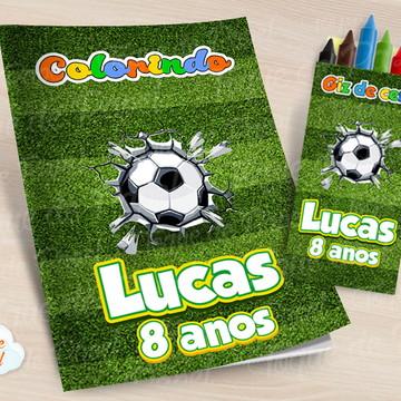 Kit colorir com giz de cera Futebol